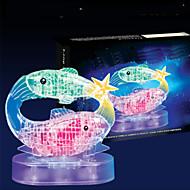 puslespil 3D-puslespil / Krystalpuslespil Byggesten DIY legetøj Fisk 45pcs ABS Model- og byggelegetøj