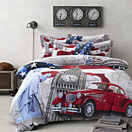Betterhome  4 Piece Pure Cotton Unique 3D Definition Stereoscopic Print Bedding  Duvet Cover Sets