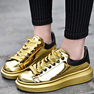 Women's Shoes Patent Leather /Tulle Platform Creepers / Comfort Fashion Sneakers Athletic/Casual Black/Silver/Gold