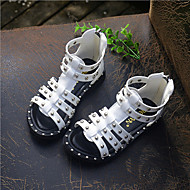 Girls' Shoes Outdoor / Dress / Casual Comfort PU / Synthetic Sandals Black / White