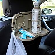 ziqiao Auto faltbaren Sitzlehne Kopfstütze Multifunktions-Reise Esstablett Getränkehalter / Handyhalter