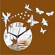 Rond Moderne/Contemporain / Casual / Office/Business Horloge murale,Animaux / Dessin animé Plastique 40*60cm