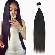 """1 pc / lote 12 """"-30"""" brasileiras do cabelo virgem reta extensões de cabelo humano de 100% cabelo remy brasileiro tece não transformados"""