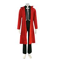 Inspiré par Alchimiste d'acier Edward Elric Anime Costumes de cosplay Costumes Cosplay Mosaïque Rouge Manche LonguesCape / Manteau /