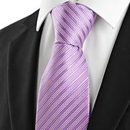 New Striped Lavender JACQUARD Mens Tie Formal Necktie Wedding Holiday Gift #0030