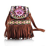 Women Nonwoven Weekend Bag Backpack-Brown