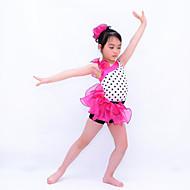 Kids' Dancewear Leotards Women's / Children's Performance Organza / Lycra Ruffles Sleeveless Natural