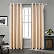 Two Panels Chadmade Solid Matt Finish Velvet Curtain Drape Beige / Blue / Grey / Purple / Khaki / Burgundy