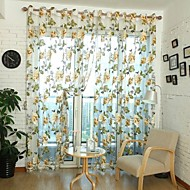 100cm*200cm,One Panel Country Floral Living Room Polyester Sheer Curtains Shades