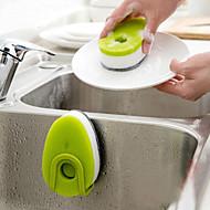 Triple Layer Soapy Sponge Self Release Dish Wash Liquid Green Soap Dispensing Sponge, Pack of 3