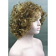 de oro de la moda rubia mezcla corto pelucas sintéticas rizadas de la mujer para las mujeres