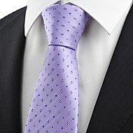Checked Pattern Men's Tie Necktie Formal Wedding Grom Party Holiday Gift KT0027
