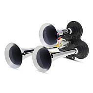 Triple Trumpet Air Horns 150.2Db Very Loud Black + Silver Car Van Lorry Truck