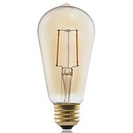 1 pcs GMY E27 2W 2 COB ≥180 lm Warm White ST58 edison Vintage LED Filament Bulbs AC 220-240 V 2200K