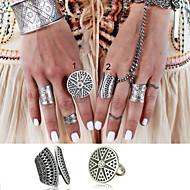 Women's / Unisex Alloy Ring Non Stone Alloy  2 Pieces
