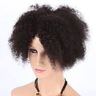 """8"""" Kinky Curly Natural Color Machine Made Wigs Virgin Brazilian Human Hair Wigs With Baby Hair For Black Women"""