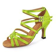Chaussures de danse(Noir / Vert / Rouge / Gris / Autre) -Personnalisables-Talon Personnalisé-Similicuir-Latine