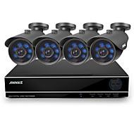 annke® nueva 8ch 960H HDMI del dvr al aire libre 900tvl IR LED azul cortan sistema de cámaras de seguridad de vídeo CCTV