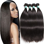 "4 Pcs/Lot 8""-30""100g/Piece Brazilian Virgin Hair Straight Human Hair 100% Brazilian Hair Weaves"