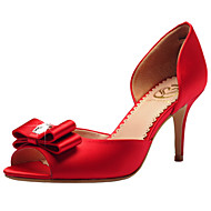 Dámské-Svatební obuv-S otevřenou špičkou / D´Orsay / Otevřená špička-Sandály-Svatba / Šaty / Party-Červená / Champagne