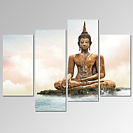 VISUAL STAR®Merciful Buddha Picture Print on Canvas for Home Decoration Ready to Hang