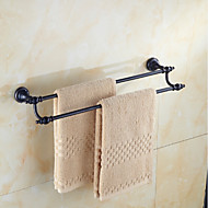 Antique Black Brass Material Double Towel Bar