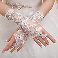 Wrist Length Fingerless Glove Tulle Bridal Gloves / Party/ Evening Gloves Spring / Summer / Fall / Winter lace