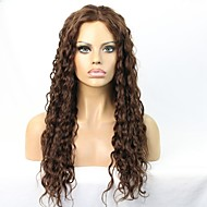 흑인 여성을위한 아기 머리를 가진 깊은 곱슬 인간의 처녀 머리 글루리스 레이스 프런트 가발
