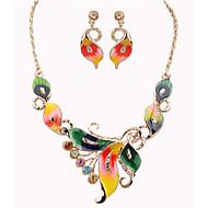 MISSING U Women Vintage / Party Alloy Necklace / Earrings butterfly Jewelry Sets