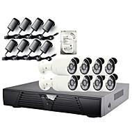 strongshine®ip kamera med 1080p / infraröda / vattentät och 8ch H.264 NVR / 2TB övervakning hdd combo kit