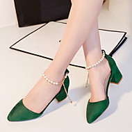 Women's Shoes Heel Heels / Pointed Toe Sandals / Heels Outdoor / Dress / Casual Black / Green / Red
