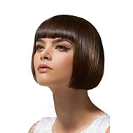 vergine di colore naturale parrucca bob capelli umani brasiliani senza pause parrucca diritta serica