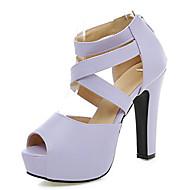 Women's Shoes Chunky Heel Platform/Open Toe Sandals Party & Evening/Dress Black/Pink/Purple/Beige