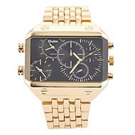 Men's Military Fashion Big Size Three Time Zones Steel Band Quartz Watch Wrist Watch Cool Watch Unique Watch