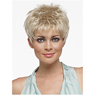 פאות סינתטיות התספורת לחתוך פיקסי פאות בלונדינית ישר שיער קצר עם פוני לנשים perruque טבעי