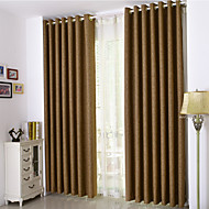 Dos Paneles Campestre / Neoclasicismo / Europeo / Moderna Sólido Beige / Café / Gris Dormitorio Poliéster cortinas cortinas