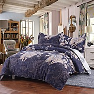 Simple Opulence Duvet Cover Set Polyester luxury Printed Royal Blue Include Quilt Cover Pillow Cases Queen King