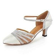 Chaussures de danse(Noir / Bleu / Rouge / Blanc / Autre) -Personnalisables-Talon Personnalisé-Similicuir-Latine / Moderne / Salsa