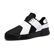 Men's Shoes Outdoor / Office & Career / Athletic / Casual Leatherette Fashion Sneakers Black / White