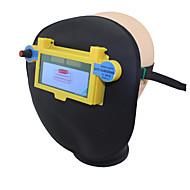 Leder Schweißwerkzeuge blau Solar-Li-Batterie Auto Verdunkelung wig mig mma Schweißer Augen Maske / Goggle / Augen Brille