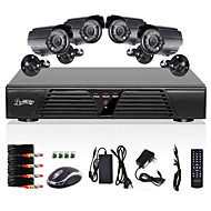 liview® sistema de segurança CCTV 4CH H.264 DVR Detecção de Movimento 800tvl câmeras de visão noturna à prova d'água