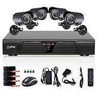 liview® 4 채널 H.264 CCTV DVR의 모션 감지 보안 시스템은 800tvl 방수 야간 카메라
