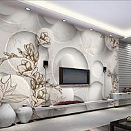 Art Deco 3D Tapet til Hjemmet Moderne Tapetsering , Lerret Materiale selvklebende nødvendig Veggmaleri , Tapet