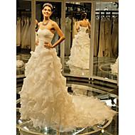 웨딩 드레스 볼 가운 채플 트레인 스윗하트 튤