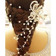 Bride's Flower Shape Rhinestone Pearl Wedding Hair Clip Accessories 1 PC