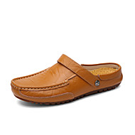 Men's Shoes Outdoor / Casual Leather Clogs & Mules Blue / Yellow