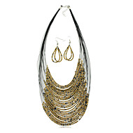 Women's Rhinestone Jewelry Set Non Stone