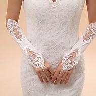 Até o Cotovelo Sem Dedos Luva Tule Luvas de Noiva Luvas de Festa Primavera Verão Outono Inverno Renda