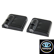 2X White Toyota Wireless Car Door Led Projection Projector Light Courtesy Ghost
