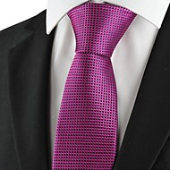 New Checked Purple Pink Men Tie Formal Necktie Wedding Party Holiday Gift KT1031